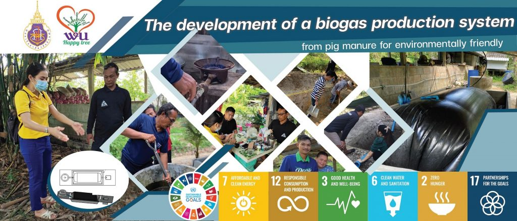 The development of a biogas production system from pig manure for environmentally friendly